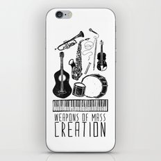 Weapons Of Mass Creation - Music iPhone & iPod Skin