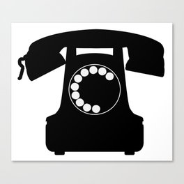 Traditional Telephone Icon Canvas Print