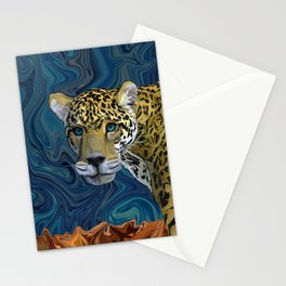 Leopard with the Sky in His Eyes Stationery Cards