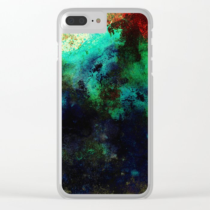 The Life In Your Veins - Abstract, acrylic, textured painting Clear iPhone Case