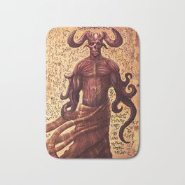 BabYlonian Demon Anatomy Bath Mat