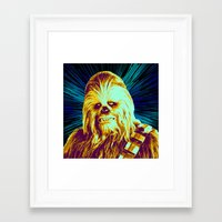 chewbacca Framed Art Prints featuring Chewbacca by victorygarlic