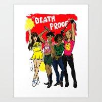 Death Proof Pin Up Art Print