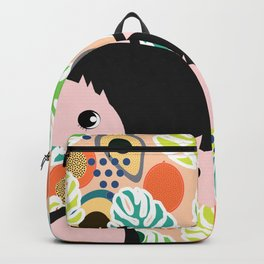 Fox, leaves and tropical fruits Backpack