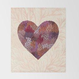 Pink Heart Throw Blanket