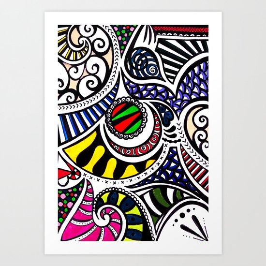 Swirly Gig Art Print