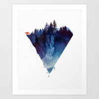 orange Art Prints featuring Near to the edge by Robert Farkas