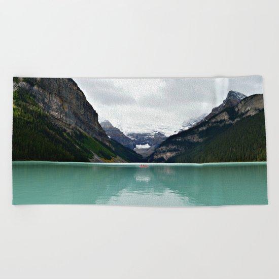 Lake Louise #mountains Beach Towel