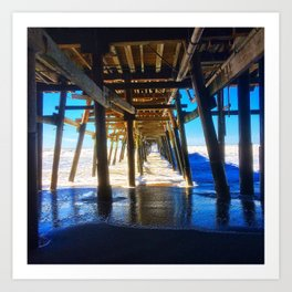 'Under The Pier' Art Print