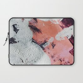 Taboo [2]: a vibrant, abstract, mixed-media piece in purple, orange, and light blue Laptop Sleeve