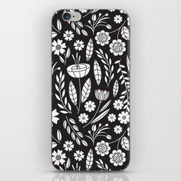 Blooming Field - black iPhone Skin