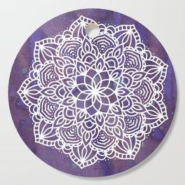 Ultraviolet Mandala #buyart #ultraviolet #mandala #society6 Cutting Board