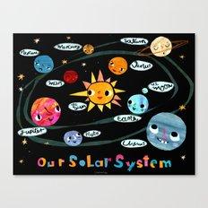 Our Solar System Canvas Print