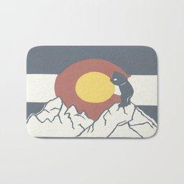 Colorado, the Big Blue Bear and the Rockies Bath Mat