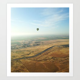 Napa Valley From Above Art Print