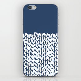 Half Knit Navy iPhone Skin