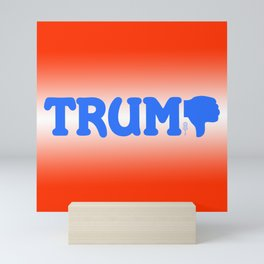 """Trump-Thumbs Down"" Mini Art Print"