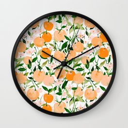 Spring Clementines Wall Clock