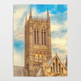 Central Tower of Lincoln Cathedral Poster