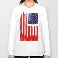 buildings Long Sleeve T-shirts featuring stars and buildings by Robert Farkas