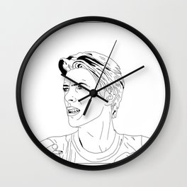 David Bowie Smoking Wall Clock