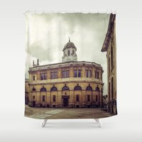 theater Shower Curtains featuring Oxford: Sheldonian Theater by Solar Designs