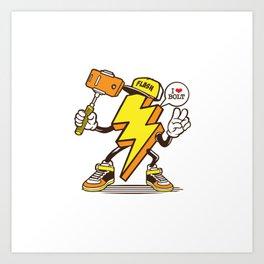 I love Lightning Bolt Art Print