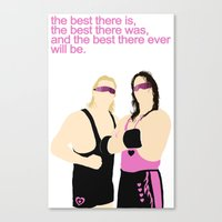 wwe Canvas Prints featuring Bret and Owen Hart - WWE/WWF by Alex Mahoney