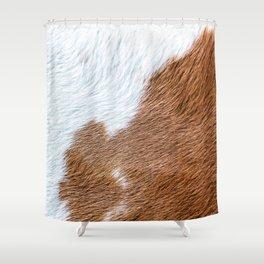 Cow Hide Print Pattern Shower Curtain