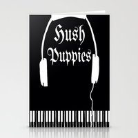puppies Stationery Cards featuring Hush Puppies by Mike Semler