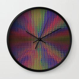 Neon Candescent Burst Tiles Wall Clock