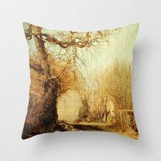 A Norfolk Lane Throw Pillow