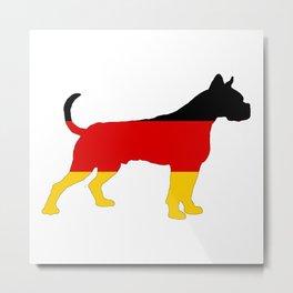 German Flag - Boxer Metal Print
