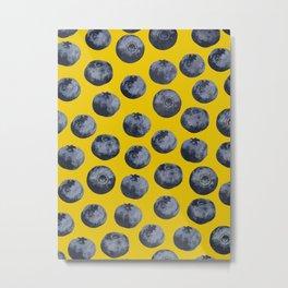 Blueberry pattern Metal Print