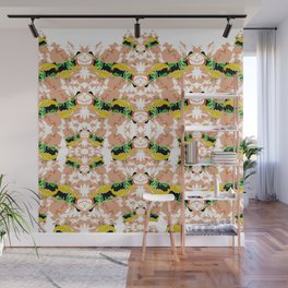 Hippopotamus Yellow/Green Wall Mural