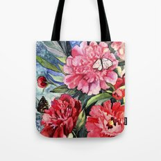 watercolor peonies Tote Bag