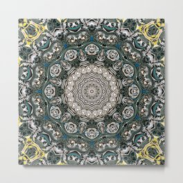 Symmetrical Ornate Mandala Metal Print