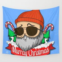 murray Wall Tapestries featuring Murray christmas by KickPunch