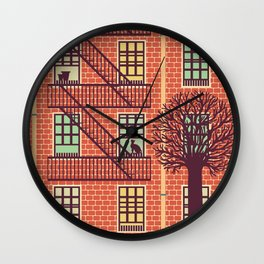 the fly (day) Wall Clock