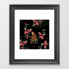 Monkey World: Nosy Framed Art Print