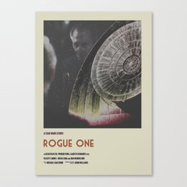 Rogue One Retro Poster II Canvas Print