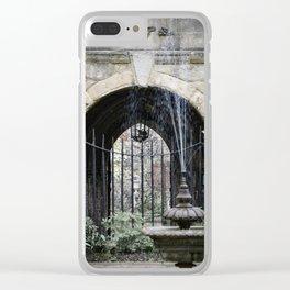 Cloister Fountain Clear iPhone Case
