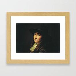 JD. Framed Art Print