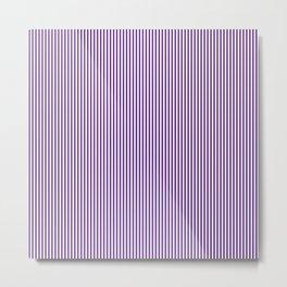 Purple Pinstripes Metal Print