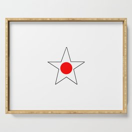 Flag of japan 4 Serving Tray