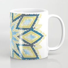 Marble and Gold Pattern in Blue Mug