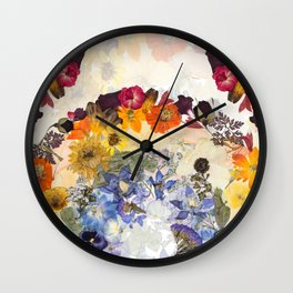 Floral Rainbows Wall Clock