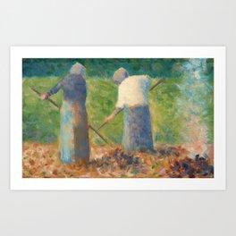 Georges Seurat Haymakers at Montfermeil Art Print