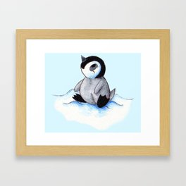 Little Winter Fluffball Framed Art Print