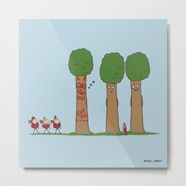 Tree Prank Gone Wrong Metal Print